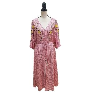 NWT! The Room by Ark & Co Embroidered Midi Dress
